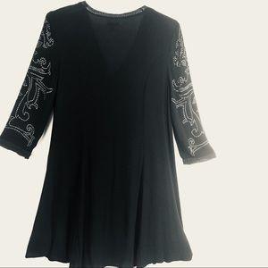 ECOTE Black Sleeves Studded Tunic